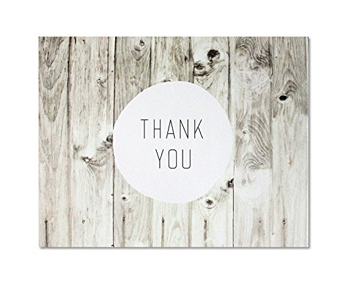 Thank You Cards - Rustic Farmhouse Style - Blank on the Inside - Includes Cards and Envelopes - 5.5