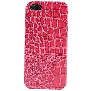 Caso del patrón del cocodrilo de imitación de cuero con revestimiento duro para el iphone 5/5s (colores surtidos)