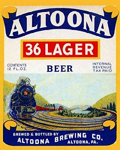 Posterazzi Altoona 36 Lager Beer Poster Print by Vintage Booze Labels (11 x - Beer 36 Lager Altoona