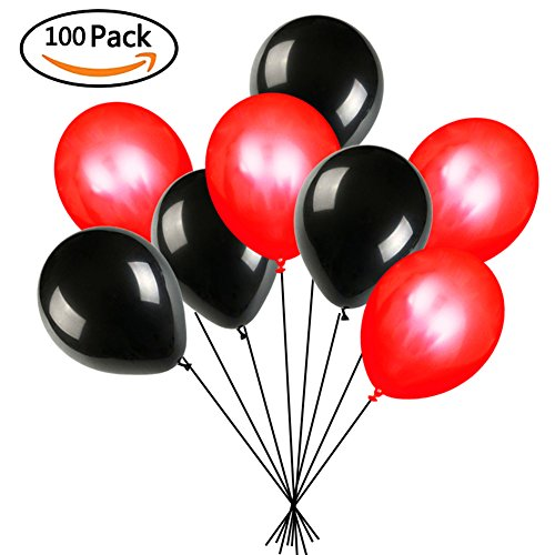 black and red balloons createasy