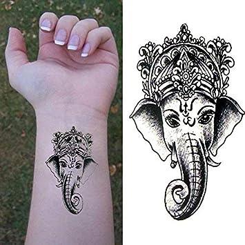 Oottati Pequeño Lindo Tatuaje Temporal Elefante De La India(2 ...