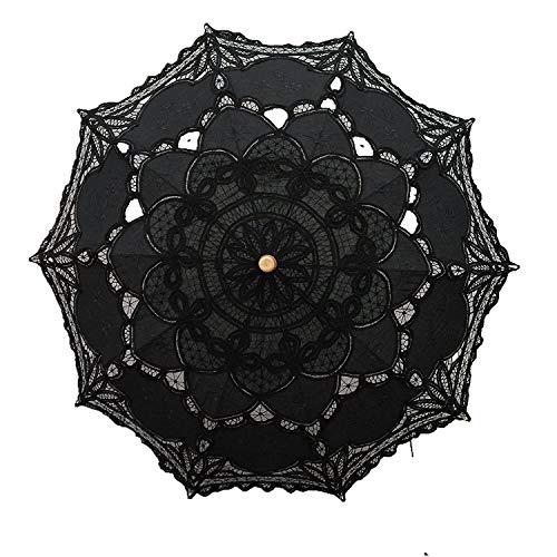 Lace Wedding Umbrella Parasol For Bride Cotton Fashion Wooden Handle Decoration Umbrella -