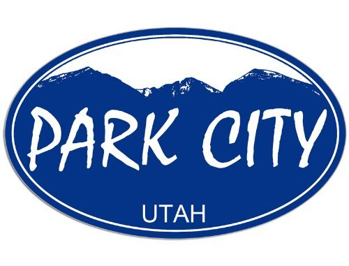 Utah Ski Snowboard (Park City Utah decal Sticker snow ski snow board)