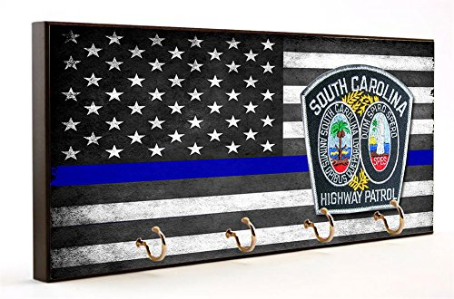 Blue Line South Carolina Highway Patrol Key Hanger ()