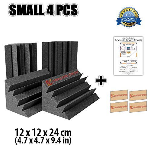dragon-dash-4-pack-of-47-x-47-x-94-inches-black-acoustic-soundproofing-bass-trap-foam-studio-treatme