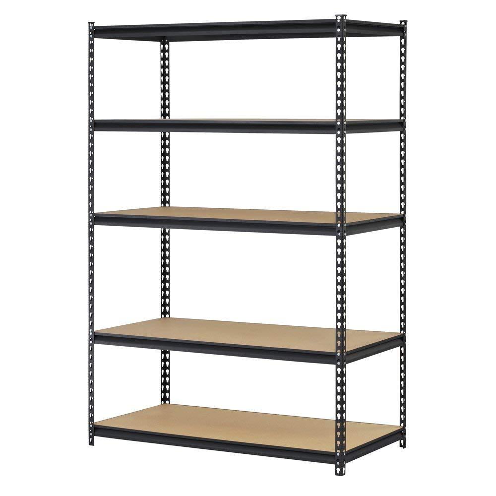 Hardware & Outdoor Heavy Duty Garage Shelf Steel Metal Storage 5 Level Adjustable Shelves Unit 72'' H x 48'' W x 24'' Deep (Pack of 2) by