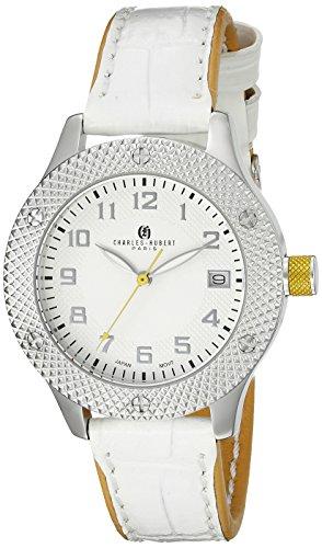 Charles-Hubert, Paris Women's 6979-B Premium Collection Analog Display Japanese Quartz White Watch