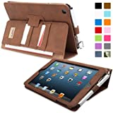 iPad Mini 1 and Mini 2 Case, Snugg Executive Distressed Brown Leather Smart Case Cover [Lifetime Guarantee] Apple iPad Mini 1 and Mini 2 Protective Flip Stand Cover With Auto Wake/Sleep