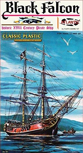 Black-Falcon-Pirate-Ship-Classic-1100-Scale-Plastic-Model-Kit