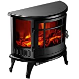 1500W Heater 23'' Standing Electric Fireplace Stove Realistic Flame Adjustable Bonus free ebook By Allgoodsdelight365