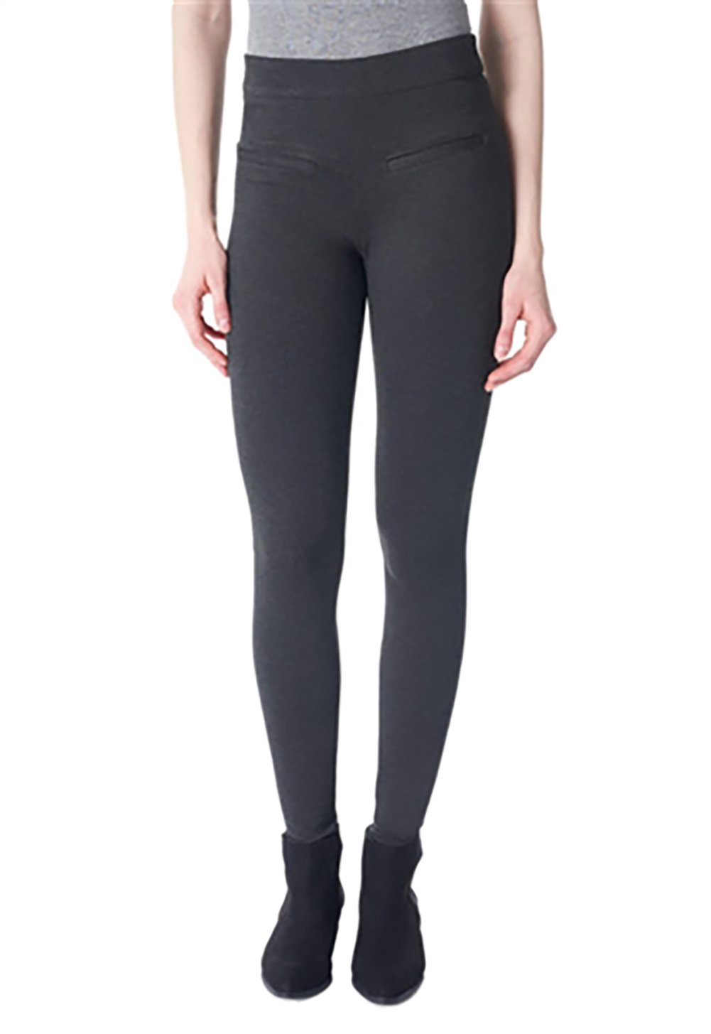 I Love Tyler Madison The Mara Ponte Skinny Pant In Charcoal (Extra Small)