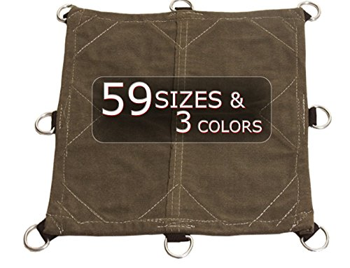 8x10 18oz Heavy Duty Canvas Tarp with D-Rings - Top Quality, Performance, and Protection