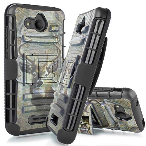 - Compatible for Alcatel Tetra Case, 6goodeals Belt Clip Holster, Rugged Hybrid Armor Cover (Deer)