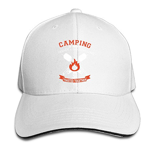 Camping Is Tosted Together Design Trucker Caps Fitted Sandwich Cap Hat
