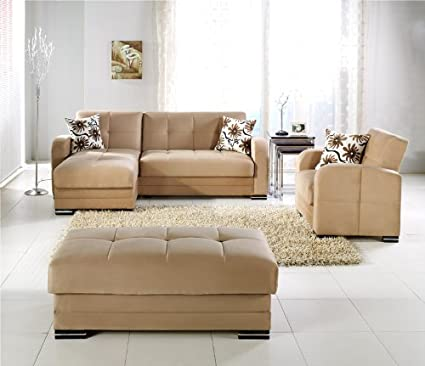 Istikbal Kubo Sectional Rainbow Dark Beige   Sectional Sofa Bed