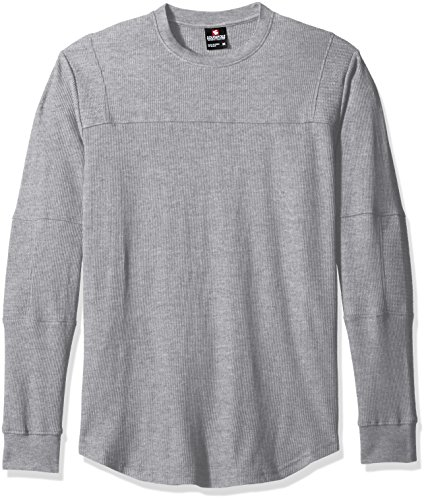 Southpole Men's Long Sleeve Scallop Thermal with Moto Bik...