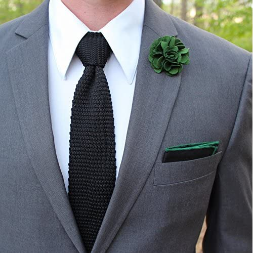 Cravate Fine Noir Profond Tricotee Garantie 5 Ans