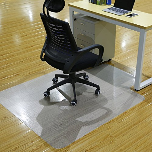 Office Premium Chair Mat Carpet Protection Mat,Studded,Clear,Rectangular Shaped (47 x 47 inches, Rectangular with Lip-No Rugged)