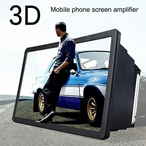 Delisouls Mobile Phone Screen Amplifier, 3D HD Magnifier Retractable Amplifier, Universal Screen Bracket Enlarged…