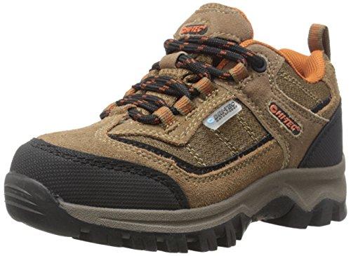 Hi-Tec Hillside Low Waterproof JR Hiking Shoe (Toddler/Little Kid/Big Kid),Brown/Orange,4.5 M US Big Kid