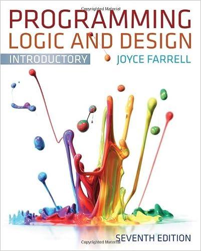 joyce farrell programming logic and design 9th edition pdf