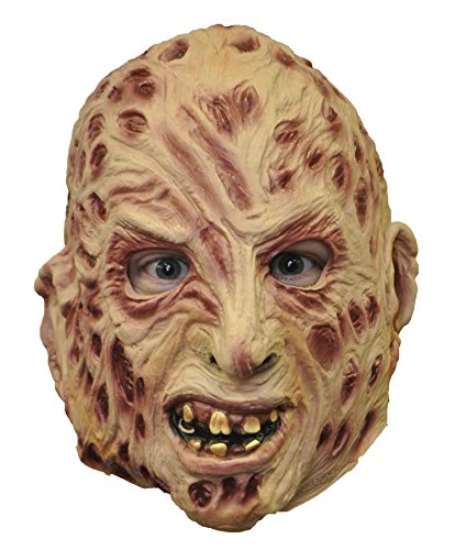 Rubie's Men's Scary Freddy Krueger 3/4 Vinyl Mask Halloween Costume (Adult Freddy Vinyl Mask)
