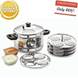 BMS Lifestyle 5-Plates Stainless Steel Idly Maker,Steamer / Cooker (5-Plates , 20 Idlis )