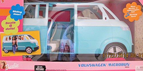 Barbie Volkswagen Microbus Vehicle Suv Van Aqua W