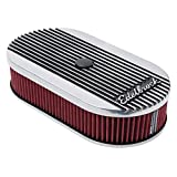 single barrel air cleaner - Edelbrock 4273    Edelbrock 4273 Elite Series Oval Air Cleaner for Single 4-Barrel Carburetor