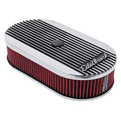 Edelbrock 4273 Edelbrock 4273 Elite Series Oval Air Cleaner for Single 4-Barrel Carburetor