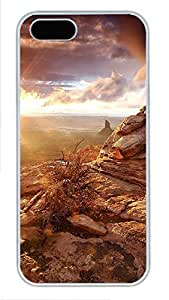 iPhone 5 5S Case Mountain Views PC Custom iPhone 5 5S Case Cover White