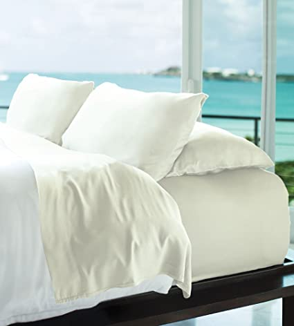 Marvelous Cariloha Resort Bamboo Sheets 4 Piece Bed Sheet Set   Luxurious Sateen  Weave   100%
