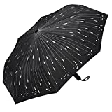PLEMO Umbrella, Stunning and Stylish Raindrops Pattern Automatic Folding Travel Brolly Auto Open and Close