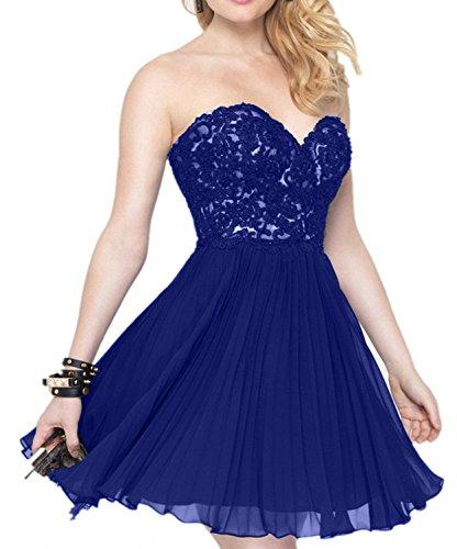 Braut Royal Ballkleider Kurzes Partykleider Abendkleider Promkleider Traegerlos Festlichkleider Blau Mini La Cocktailkleider mia 8P0WwU5