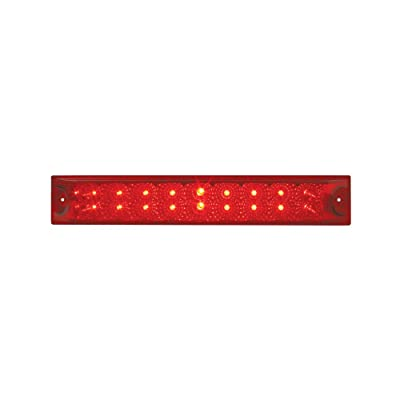 """Grand General 76987 Red 12"""" Double Row Spyder 18-LED Stop/Turn/Tail Sealed Light Bar: Automotive"""