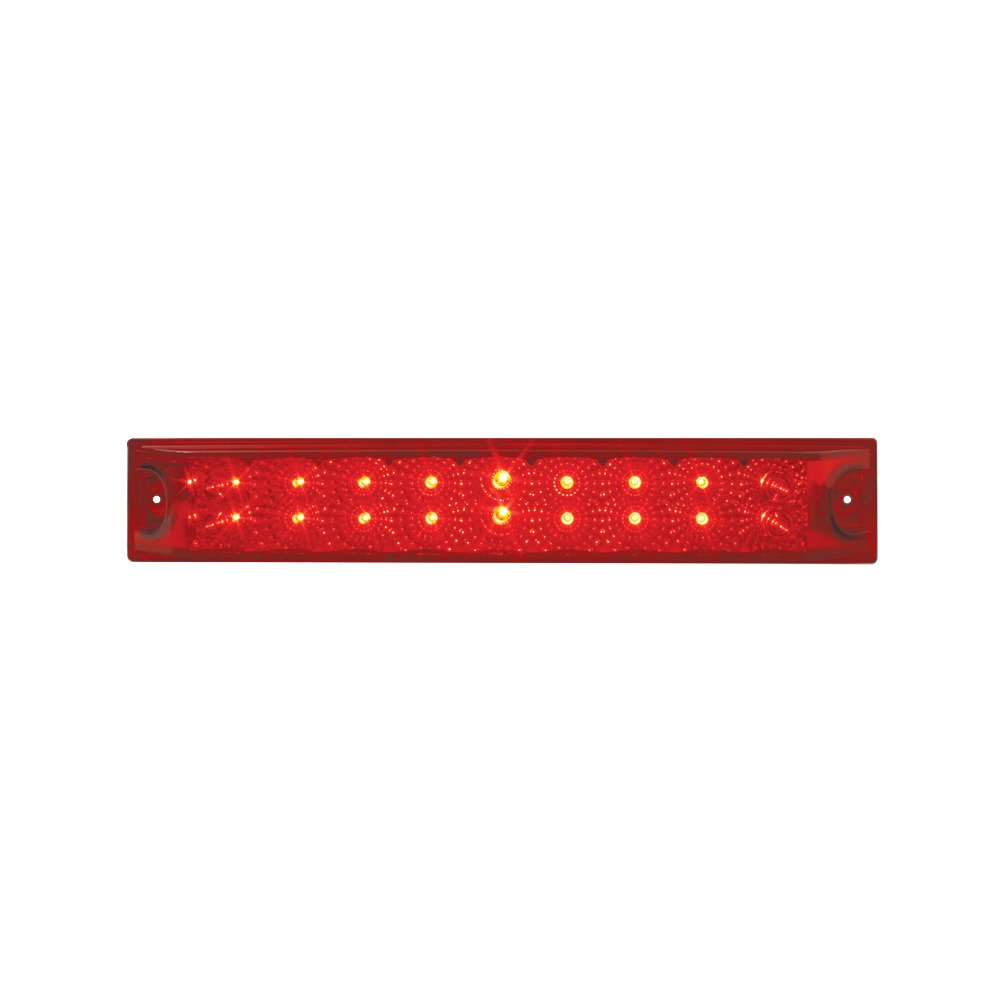 Grand General 76987 Red 12'' Double Row Spyder 18-LED Stop/Turn/Tail Sealed Light Bar