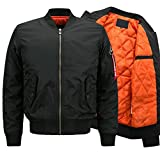 Yeokou Men's Casual Winter Warm Thick Puffer Quilted Short Bomber Jacket Coat (Medium, Style 12 Black)