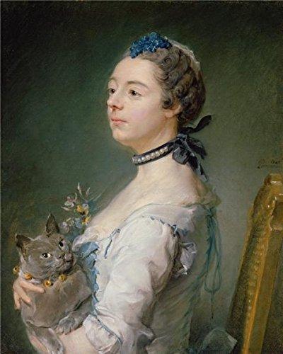Price comparison product image Oil Painting 'Magdaleine Pinceloup De La Grange,  Nee De Parseval,  1747 By Jean-Baptiste Perronneau' Printing On Perfect Effect Canvas ,  20x25 Inch / 51x64 Cm
