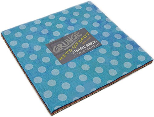 BasicGrey Grunge Hits The Spots New Layer Cake 42 10-inch Squares Moda Fabrics 30149LCN