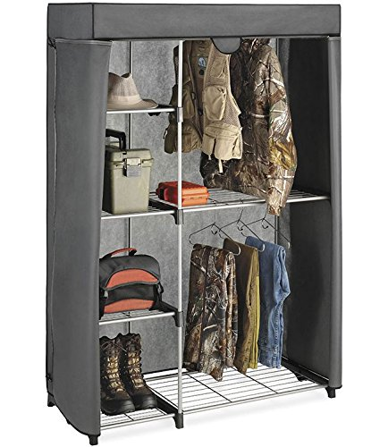 Whitmor  Deluxe Utility Closet with Gray (Deluxe Wardrobe)