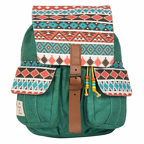 The House Of Tara Aztec Print Backpack (Multicolour) Backpack