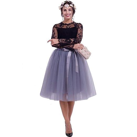 PAIOUPAIOU Faldas de tutú for Mujer, Falda Plisada de Bowknot en ...