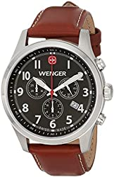 Wenger Men's 0543.102 Analog Display Swiss Quartz Brown Watch