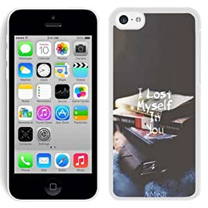 Beautiful Unique Designed iPhone 5C Phone Case With I Lost Myself In You_White Phone Case