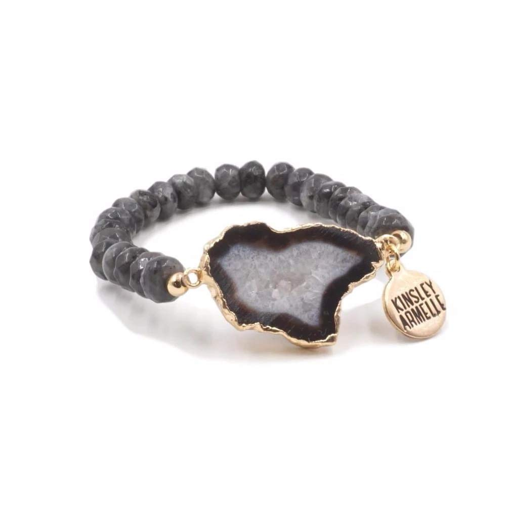 Kinsley Armelle Agate Collection - Smoky Bracelet by Kinsley Armelle