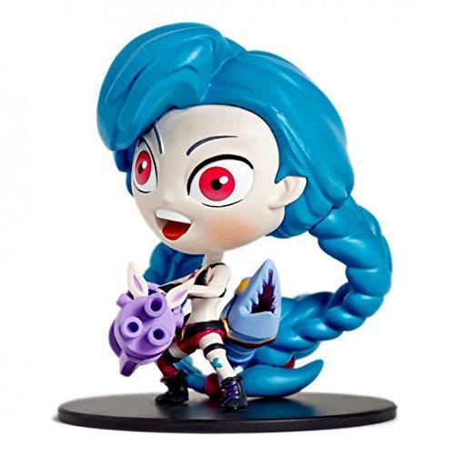 "NEW 4""/10cm LOL Runaway Lolita Jinx GAME Shooter PVC Action Figure BASE toy model"