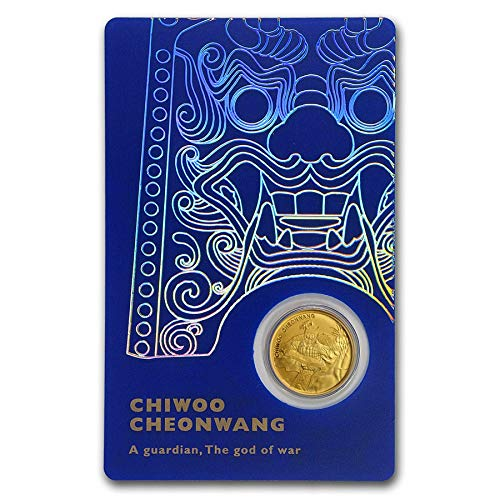 2018 KR South Korea 1/10 oz Gold 1 Clay Chiwoo Cheonwang BU (Blue) 1/10 OZ ()