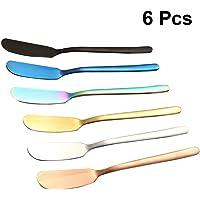 Hemoton Cuchillo de Mantequilla, 6 Piezas Cuchillos Esparcidor