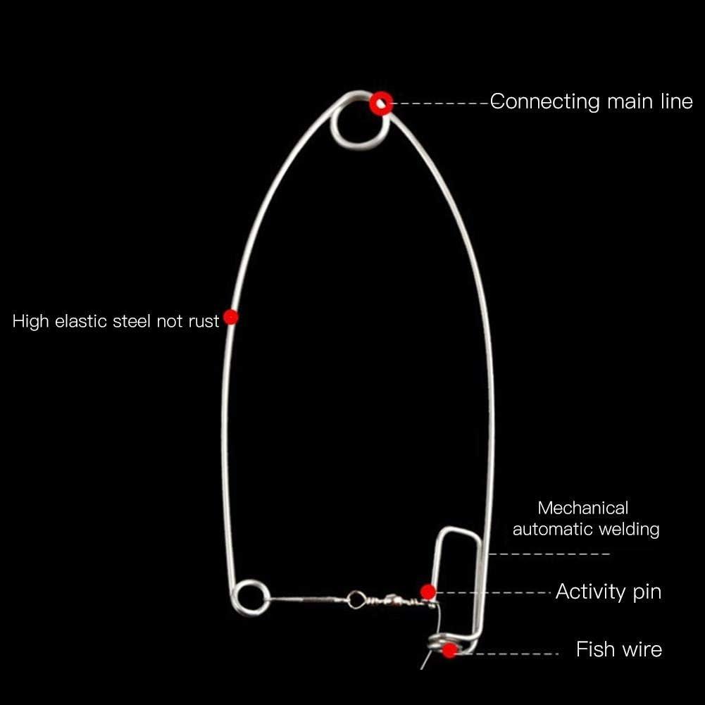 Alomejor Automatische Angelhaken Lazy Fish Hooks Automatisches Angelger/ät zum Angeln von Trackle-Zubeh/ör