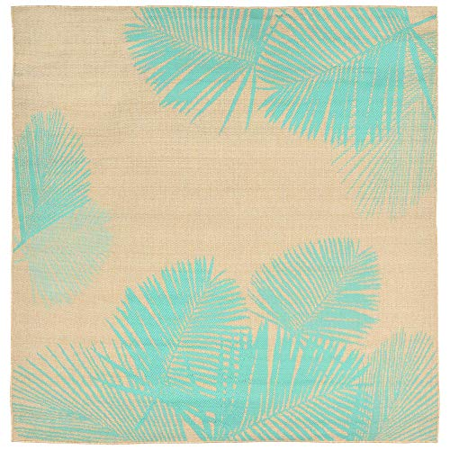 (Liora Manne TERS8179273 Tropical Botanical Leaves Terrace Casual Palm Indoor/Outdoor Rug, 7'10